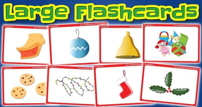 christmas large flashcards set2
