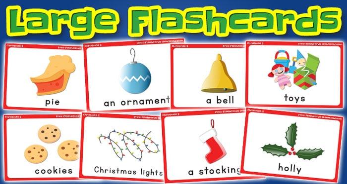 christmas large flashcards set2 captions