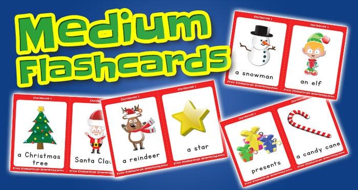 christmas medium flashcards set1 captions