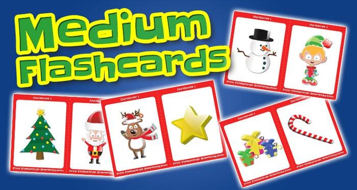 christmas medium flashcards set1