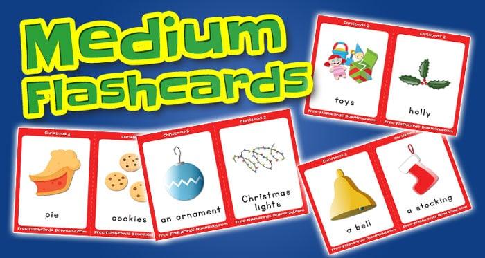 christmas medium flashcards set2 captions