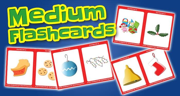 christmas medium flashcards set2