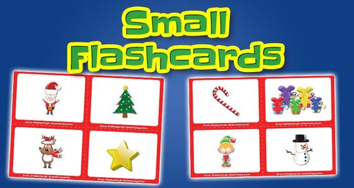 christmas small flashcards set1