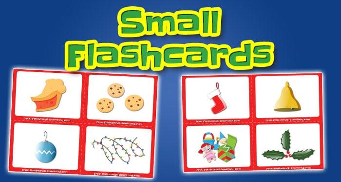 christmas small flashcards set2