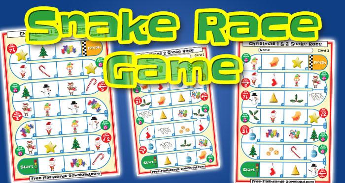 christmas snake race game