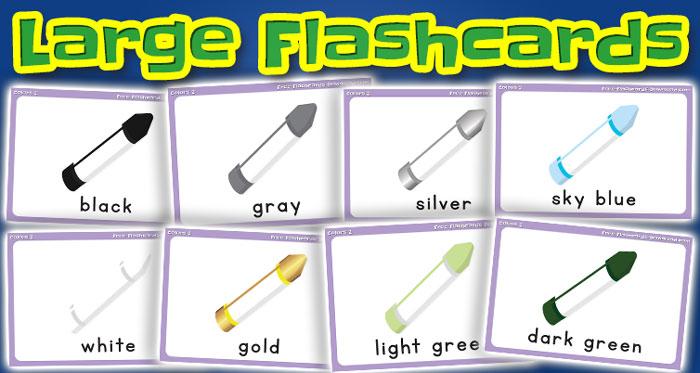 colors large flashcards set2 captions