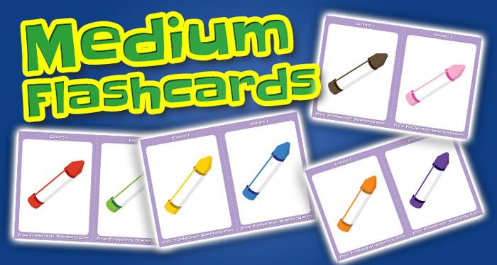 colors medium flashcards set1