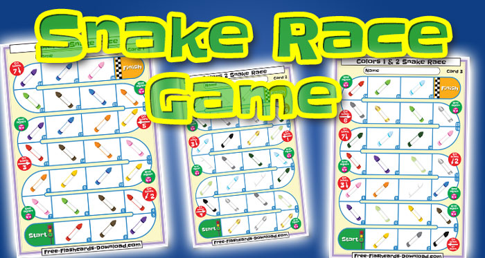 colors snake race game